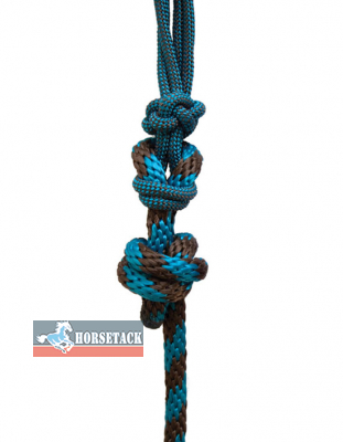 Professionals Choice Rope-Halter - Chocolate/Turquoise