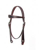 TWO TONE HEADSTALL w./ antique style conchos