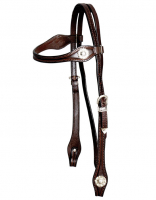 Silver Headstall - Straight Brow